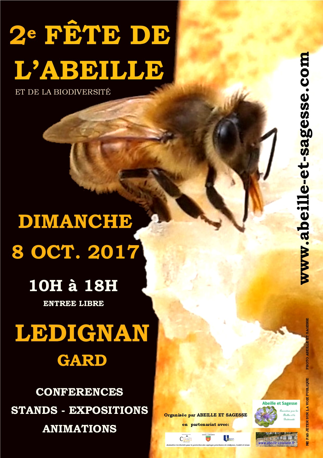 Affiche 2e fete abeille 2017