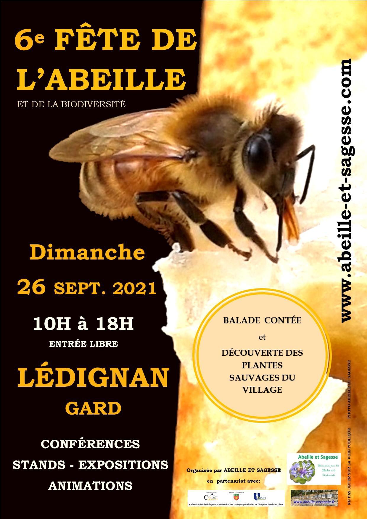 Affiche 6e fete abeille 2021 22 07 2021